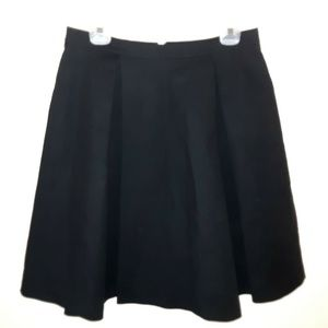 Black Pleated Skirt 10 Vince Camuto Zip Up